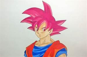Dragon Ball Z Super Saiyan God Images Sketch - Great Drawing