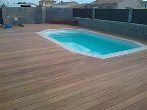 tour de piscine en bois exotique cumaru a lancon de With parquet piscine