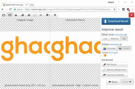 First you need to add file for conversion: How to convert JPG and PNG images to SVG - gHacks Tech News
