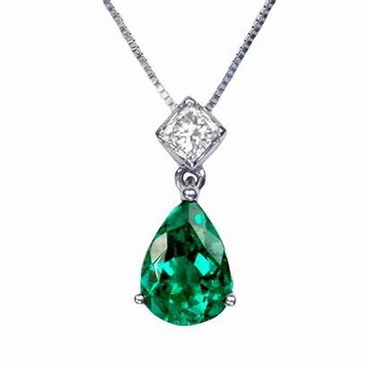Emerald Pendant Colombian Necklace Emeralds Cut Gold