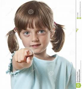 Little Girl Pointing On You Stock Image - Image: 25753893