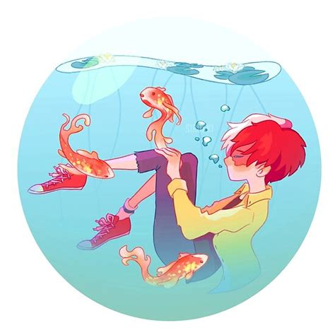 Todoroki Fish Aesthetic Poster By Sirukki Redbubble