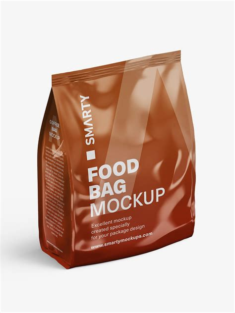 50+ best cement bag mockup templates. Glossy food bag mockup - Smarty Mockups