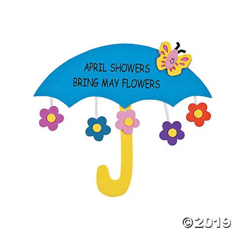 April Showers by April Showers Bring May Flowers Sign Craft Kit