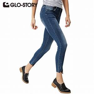 GLO STORY Women High waist jeans 2017 Spring Autumn Skinny ...