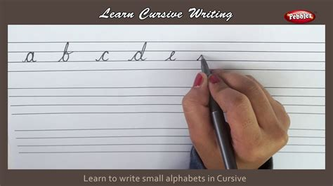 cursive writing writing small alphabets  cursive