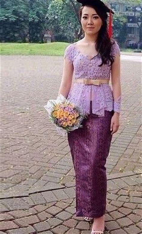 dress ungu cantik model kebaya wisuda modern terbaru holidays oo