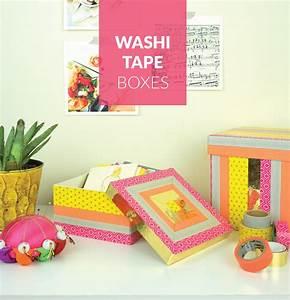 Washi Tape Decorative Boxes