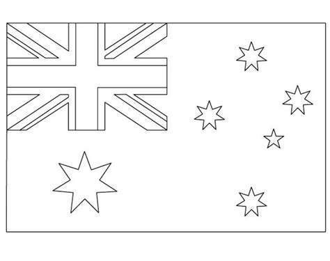 geography blog australian flag coloring page printable