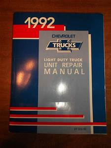 Sell 1992 Chevy Truck Unit Repair Service Shop Manual