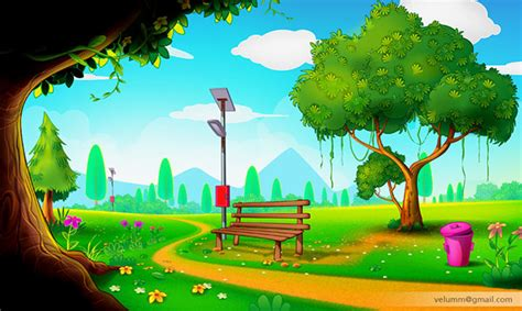 2d Animation Background On Behance