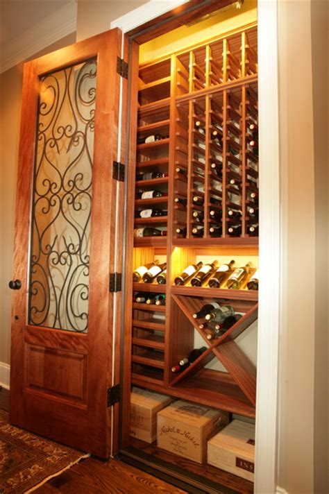 Closet Converted To Wine Cellar Traditional Wine, Convert