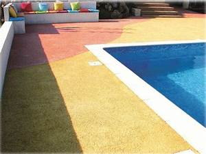 revetement acquasol pour plage de piscine With revetement tour de piscine