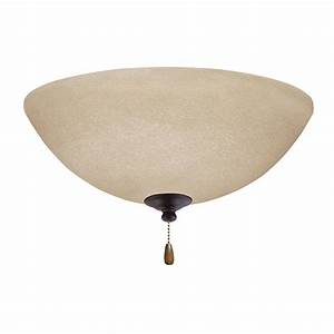 Emerson ceiling fans lk ledorb amber mist antique brass