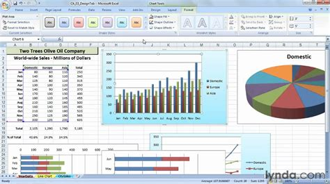excel chart templates how to create a chart template in excel 2007 lynda tutorial