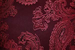 Stoffe Mit Muster : jacquard taft paisley rot ~ Frokenaadalensverden.com Haus und Dekorationen