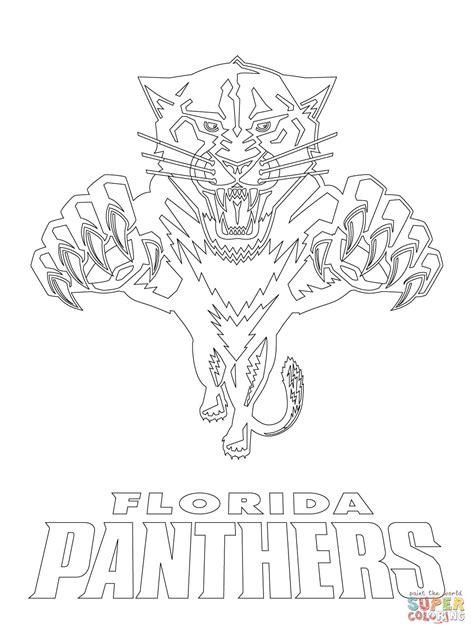 Coloriage Logo Des Panthers De La Floride Coloriages