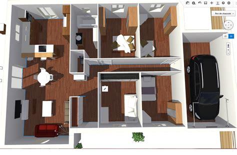 chambre 3d plan maison 3d 3 chambres maison moderne