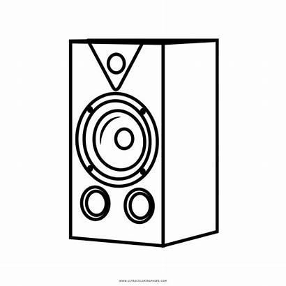 Ausmalbilder Lautsprecher Coloring