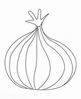 Onion Coloring Pages Onions Drawing Printable Template Sketch Getdrawings Templates sketch template