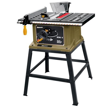 lowes portable table saw shop shop series by rockwell 13 amp 10 in table saw at