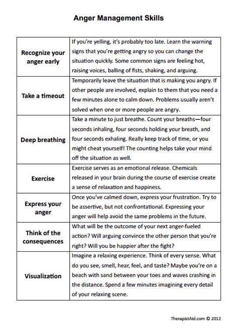 image result  counseling worksheet anger anger