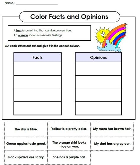 fact and opinion abraham lincoln worksheets and anchor charts