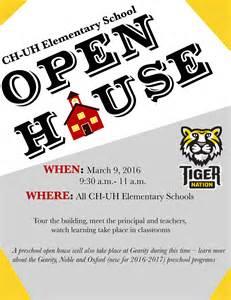 Elementary School Open House Flyer