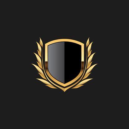 blank badge shield crest label armor luxury gold design