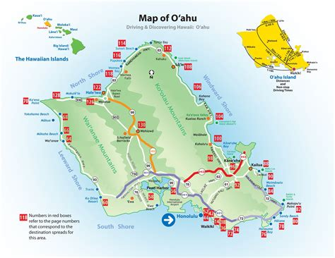 pin oahu  map  pinterest