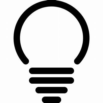 Icon Lightbulb Svg Shape Interface Spherical Simpleicons