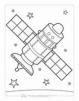 Coloring Space Pages Satellite Sheets Itsybitsyfun Printables Printable Drawing Boyama Moon Fun Colour Astronaut Children Crafts Read sketch template
