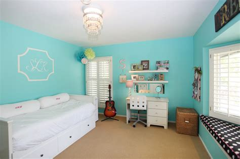 Turquoise Bedroom  Eclectic  Bedroom  Los Angeles By