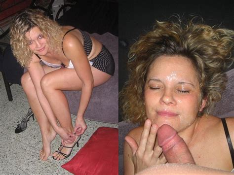 Wifebucket Before And After The Big Facial Cumshot