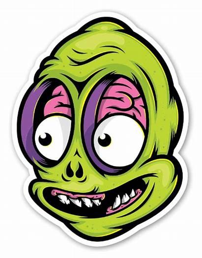 Alien Sticker Stickers Baker Brain Custom Labels
