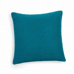 Maison Du Monde Coussin : coussin en coton bleu 50 x 50 cm nash maisons du monde ~ Teatrodelosmanantiales.com Idées de Décoration