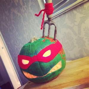 Halloween Pumpkin Carving Scary Raphael Teenage Mutant
