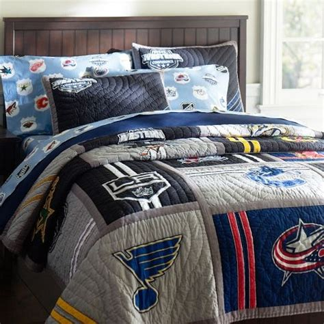 Nhl Bedding Sets by Nhl Quilt From Potterybarn Hockey Quilt