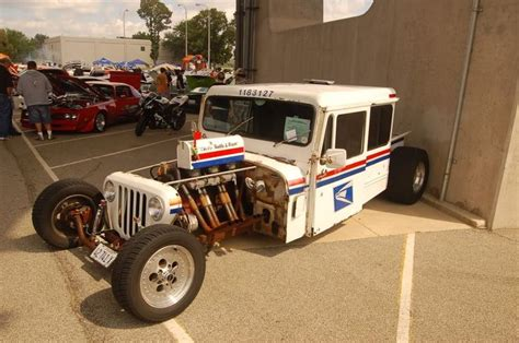 postal jeep rod now that is a mail truck or car rat rod dream cars