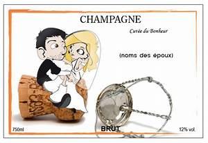 Etiquette Champagne Mariage : etiquette de champagne pour un mariage ~ Teatrodelosmanantiales.com Idées de Décoration