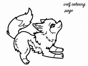 Cute Colouring Pages Baby Wolf - ClipArt Best