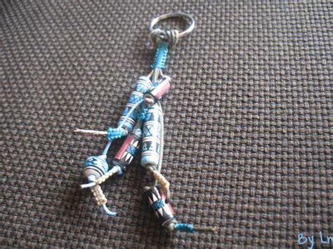 porte clefs macrame  perles indiennes