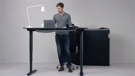 Motorized Standing Desk Ikea by Ikea S Adjustable Bekant Desk Looks To Bring You To Your