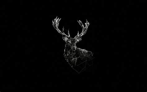 ad deer animal illust dark papersco