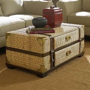 rattan trunk coffee table coffee table design ideas With rattan trunk coffee table