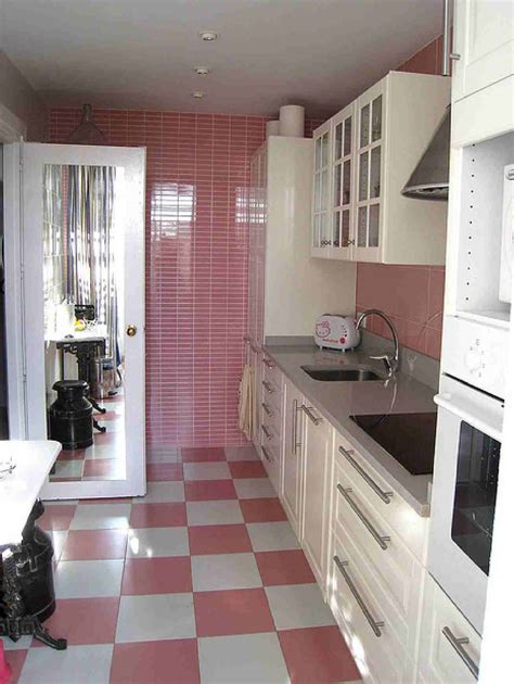 pink tiles kitchen pink checkerboard floor and white cabinets checkerboard 1504