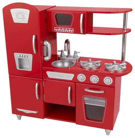 Red Retro Kitchen  Traditional  Kids Toys And Games By
