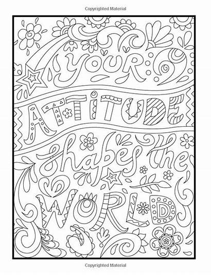 Positive Coloring Pages Words Sheets Printable Adult