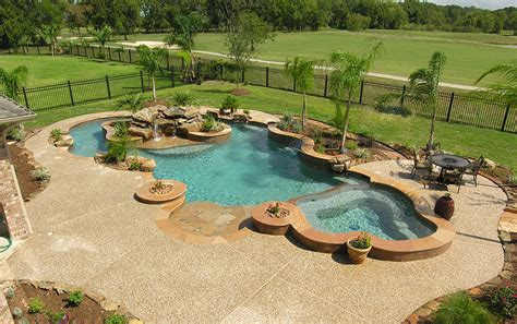 Backyard Pool With Lazy River by Lazy River Pools Chilean Caribbean Pearl Matrix