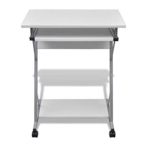 desk with slide out table vidaxl co uk computer desk pull out tray white furniture